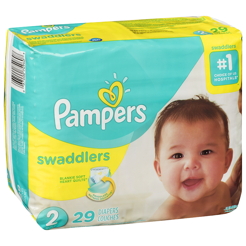 Pampers Swaddlers Diapers - Size 2 - 29's