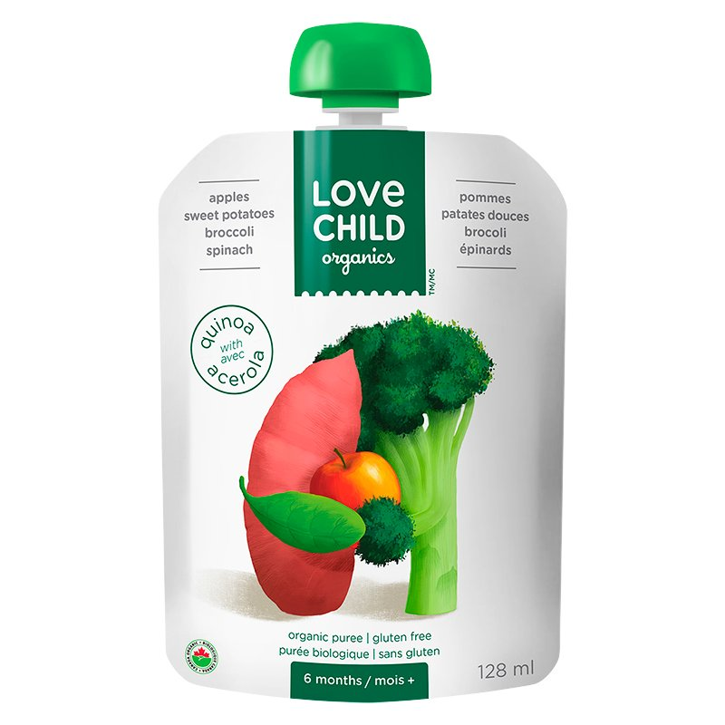 Love Child Apples, Sweet Potato, Broccoli and Spinach - 128ml