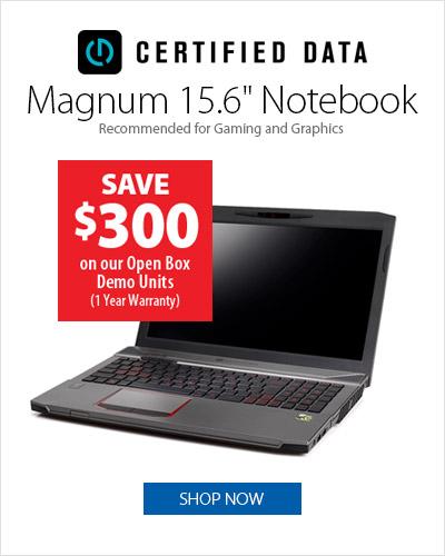 Certified Data Magnum Notebook