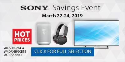 Sony Savings Event