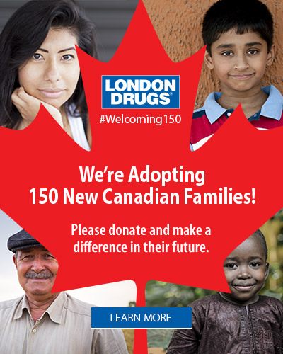 Canada 150 - We are adopting 150 new Canadian families.