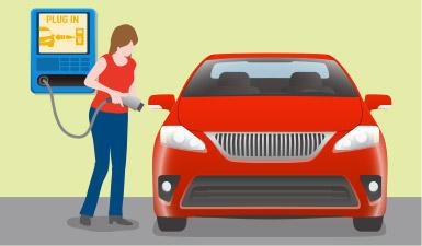 pluging in a car