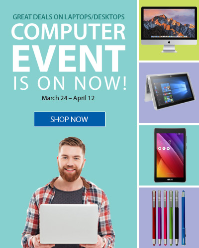 Our Computer event is on now!