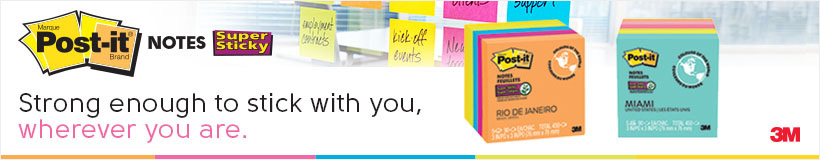 Post-it Notes - Strong enough to stick with you, wherever you are.