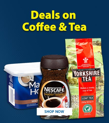 Deals on Coffee and Tea